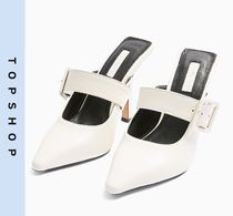 TOPSHOP Casual Style Leather High Heel Pumps & Mules