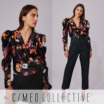 Cameo the Label Flower Patterns Casual Style Puffed Sleeves Long Sleeves