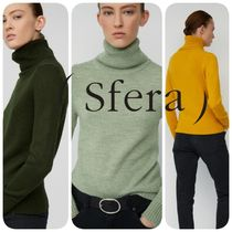 Sfera Casual Style Long Sleeves Plain Medium Turtlenecks