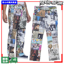 Fucking Awesome Printed Pants Unisex Street Style Cotton Patterned Pants
