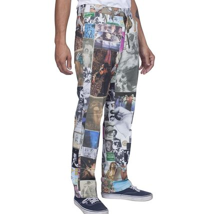 Printed Pants Unisex Street Style Cotton Patterned Pants