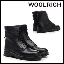 WOOLRICH Rubber Sole Plain Leather Ankle & Booties Boots