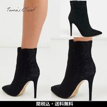 Lipsy Casual Style Suede Plain Pin Heels Party Style Office Style