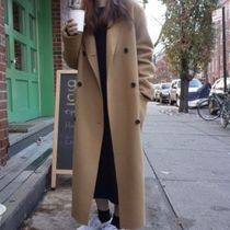 Casual Style Street Style Plain Long Elegant Style