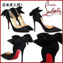 Christian Louboutin Suede Plain Pin Heels Party Style Elegant Style