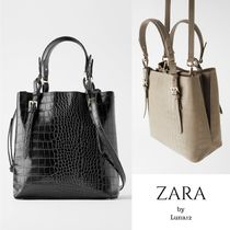 ZARA Casual Style Faux Fur 2WAY Other Animal Patterns