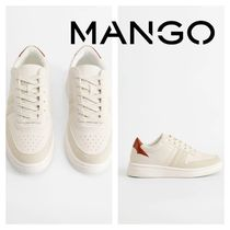 MANGO Round Toe Low-Top Sneakers
