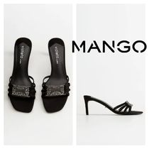 MANGO Leather Pin Heels Heeled Sandals