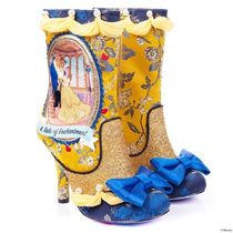Irregular Choice Round Toe Collaboration Party Style Mid Heel Boots