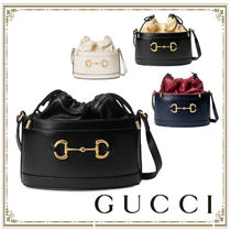GUCCI Casual Style Leather Party Style Purses Elegant Style