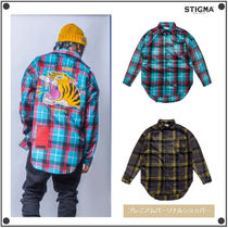 STIGMA Other Check Patterns Casual Style Unisex Street Style
