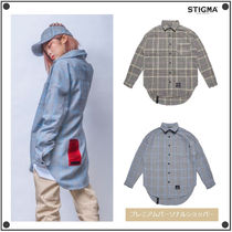 STIGMA Glen Patterns Casual Style Unisex Street Style Long Sleeves