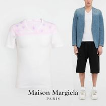 Maison Margiela V-Neck Cotton Short Sleeves V-Neck T-Shirts