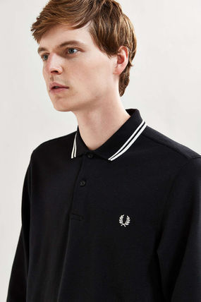 Pullovers Street Style Long Sleeves Logo Polos