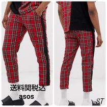 ASOS Other Check Patterns Street Style Cropped Pants