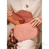 SEZANE Casual Style Leather Handmade Crossbody Shoulder Bags