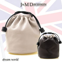 J & M Davidson Casual Style Leather Purses Bucket Bags