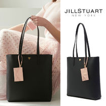 JILLSTUART Casual Style A4 2WAY Plain Office Style Totes