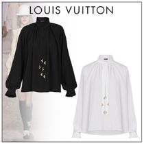 Louis Vuitton Monogram Casual Style Silk Plain Party Style Office Style