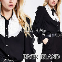 River Island Long Sleeves Plain Party Style Shirts & Blouses