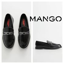 MANGO Round Toe Rubber Sole Loafer & Moccasin Shoes