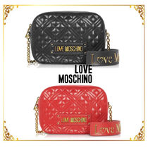 Love Moschino Plain Elegant Style Shoulder Bags