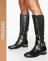 boohoo Casual Style Faux Fur Boots Boots