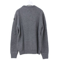 MONCLER Pullovers Wool Cashmere Blended Fabrics Henry Neck