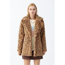 Chicwish Chicwish Collared Leopard Faux Fur Coat