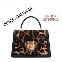 Dolce & Gabbana Leopard Patterns Casual Style 3WAY Leather Elegant Style