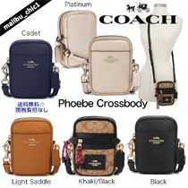 Coach Monogram Plain Leather Smart Phone Cases