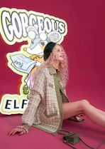 ELF SACK Other Plaid Patterns Casual Style Street Style Long Sleeves