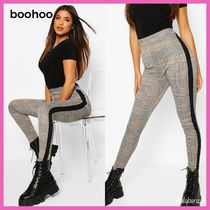 boohoo Other Check Patterns Casual Style Street Style Skinny Pants