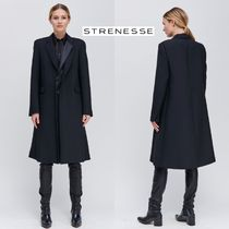 STRENESSE Wool Plain Long Elegant Style Coats