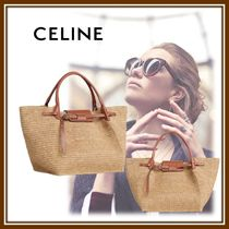 CELINE Big Bag Casual Style Calfskin Party Style Office Style Elegant Style