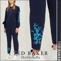 TED BAKER Flower Patterns Casual Style Medium Cropped & Capris Pants