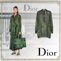 Christian Dior Casual Style Long Sleeves Other Animal Patterns Cotton