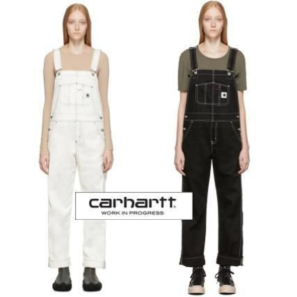 Dungarees Casual Style Street Style Plain Cotton Dresses