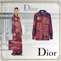 Christian Dior Casual Style Silk Long Sleeves Other Animal Patterns Medium