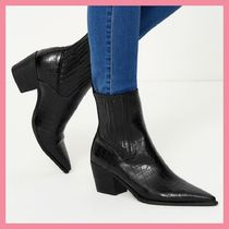 Lipsy Casual Style Faux Fur Other Animal Patterns Chelsea Boots