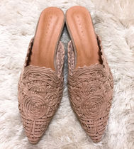 Casual Style Slippers Pointed Toe Shoes