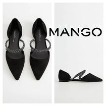 MANGO Rubber Sole Leather Flats