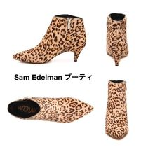 Sam Edelman Leopard Patterns Pin Heels Elegant Style Pointed Toe Shoes