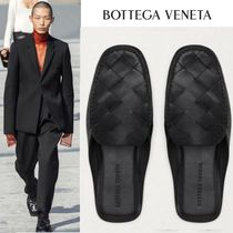 BOTTEGA VENETA Driving Shoes Loafers Unisex Street Style Plain Leather