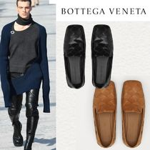 BOTTEGA VENETA Loafers Unisex Street Style Plain Leather Loafers & Slip-ons