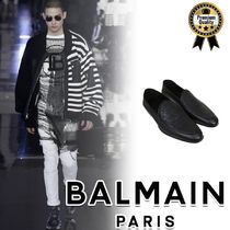BALMAIN Loafers Street Style Plain Leather Loafers & Slip-ons