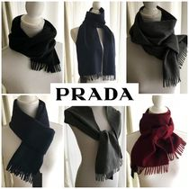 PRADA Wool Cashmere Plain Scarves