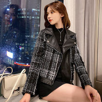 Short Other Check Patterns Casual Style Tweed Faux Fur