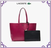 LACOSTE Casual Style A4 PVC Clothing Totes
