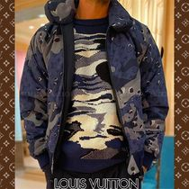 Louis Vuitton Short Camouflage Monogram Wool Nylon Street Style MA-1